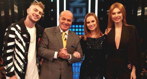 Leo Picon e as gêmeas Júlia e Carla Pereira participam do Mega Senha
