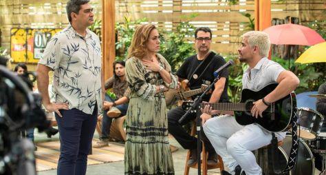 """Zeca Camargo e Cissa Guimarães gravam participação em """"Amor de Mãe"""""""