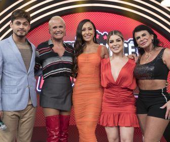Sabrina Sato recebe Xuxa e Gretchen em quadro inédito do Domingo Show