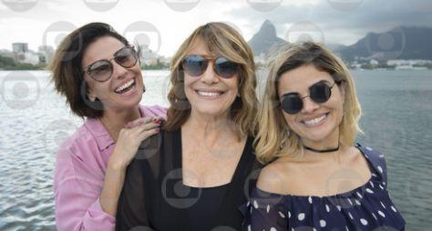 Renata Sorrah, Giovanna Antonelli e Vanessa Giácomo gravam a série Filhas de Eva