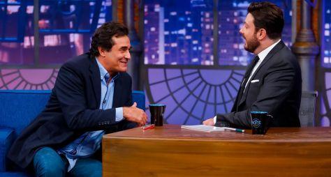 Danilo Gentili conversa com Luciano Szafir no The Noite desta terça