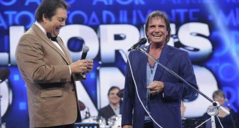 Roberto Carlos comemora aniversário com apresentação no Domingão do Faustão