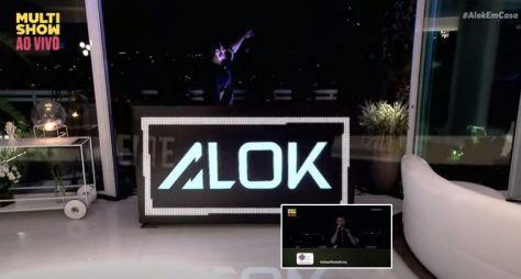 Mas uma live, agora na casa de Alok