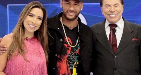 """Programa Silvio Santos"" recebe Neymar, Patricia e Luciana Gimenez"