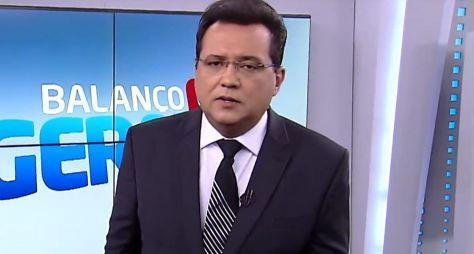 Geraldo Luís no cenário do Balanço Geral, da Record; apresentador entrou no rada