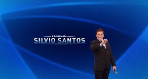 Programa Silvio Santos recebe Narcisa Tamborindeguy e Tiago Barnabé