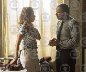 Germano pressiona Gilda para saber se é o pai de Eliza