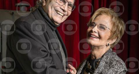 """O casal Glória Menezes e Tarcísio Meira estão no """"Altas Horas"""" deste sábado"""