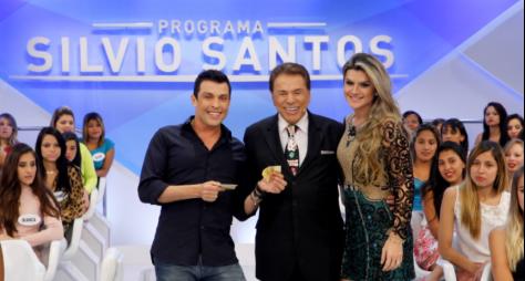 """Programa Silvio Santos"" recebe Mirella Santos e Wellington Muniz"