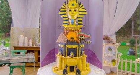 """""""Bake Off Brasil"""" traz rico e impactante 'Bolo Egito' na prova criativa"""