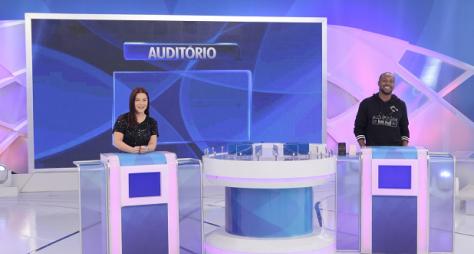 Fernanda Souza e Thiaguinho são os convidados do Programa Silvio Santos