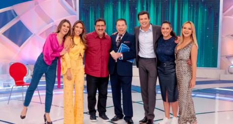 """""""Programa Silvio Santos"""" recebe Maisa e Tiago Abravanel com suas mães"""