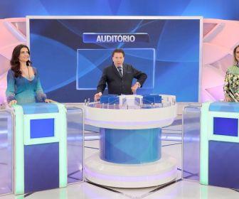 """""""Programa Silvio Santos"""" recebe Patrícia Salvador e Lígia Mendes"""