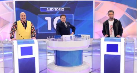 Tiago Abravanel e Marcos Mion participam do Programa Silvio Santos