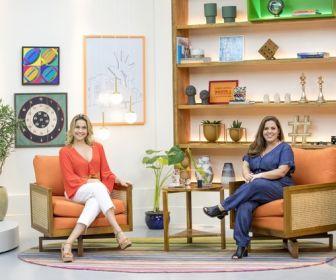 """Fernanda Gentil e Tati Machado no novo cenário do """"Se joga"""""""