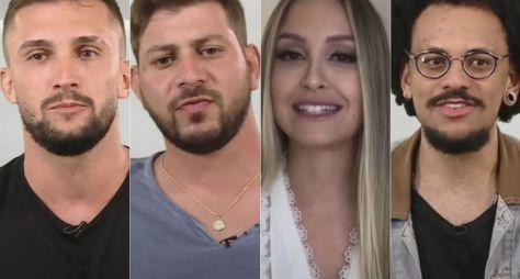 Arthur, Caio, Carla e João Luiz formam o paredão falso do BBB21