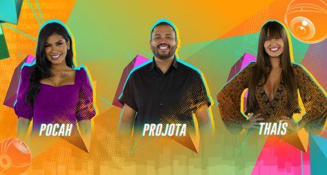 Pocah x Projota x Thaís no sétimo paredão do BBB21