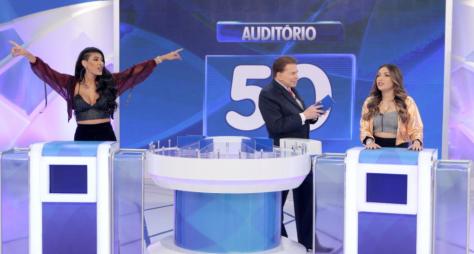 Programa Silvio Santos exibe participação de Pocah e Dani Russo