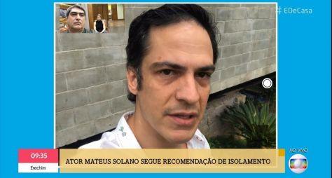 """Mateus Solano e a esposa Paula Braun participam do """"É de Casa"""""""