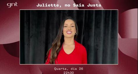 """Juliette participa do """"Saia Justa"""" da próxima quarta (26), no GNT"""