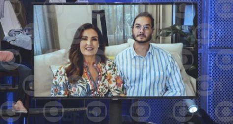 """Fátima Bernardes e Lulu Santos celebram o Dia dos Namorados no """"Altas Horas"""""""