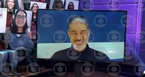 "William Bonner, Leandra Leal, Fernando Fernandes no ""Altas Horas"""