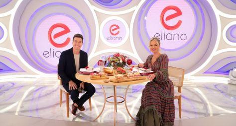 Eliana e Rodrigo Faro gravam programa juntos