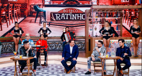 """""""Boteco do Ratinho"""" traz Felipe Araújo, Latino, Los Catillos e mais nesta quarta"""