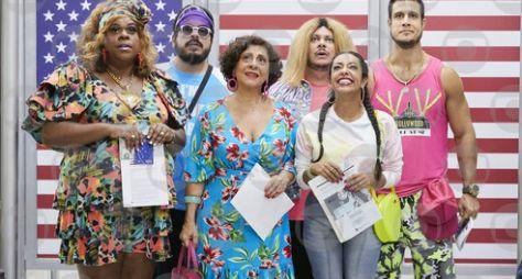 Lacraia visita a turma do 'Vai que Cola' em Miami
