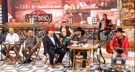 """""""Boteco do Ratinho"""" recebe Edson & Hudson e Caju & Castanha"""