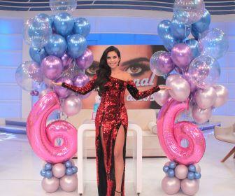 Daniela Albuquerque celebra seis anos do Sensacional na RedeTV!