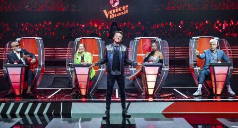 """Apresentador e jurados celebram a 10ª temporada do """"The Voice Brasil"""""""