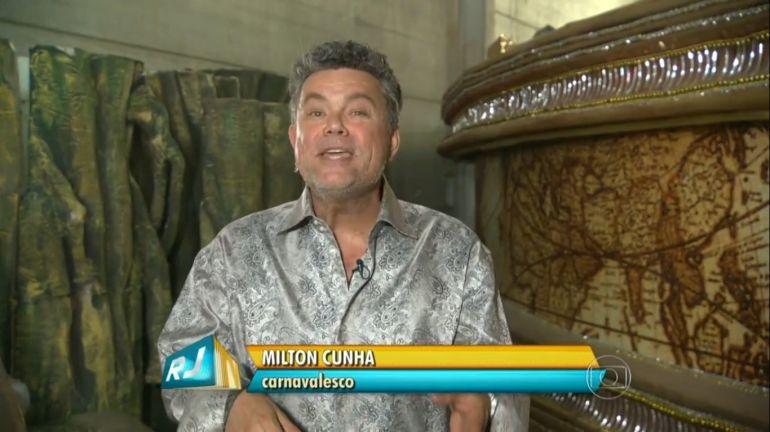 Milton Cunha, em quadro no RJTV (Reprodução)