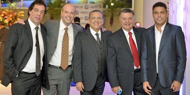 Casagrande, Escobar, Galvão, Arnaldo e Ronaldo: parte da equipe da Copa de 2014