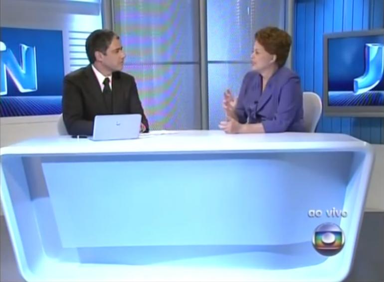 William Bonner entrevista a presidente Dilma em 2010