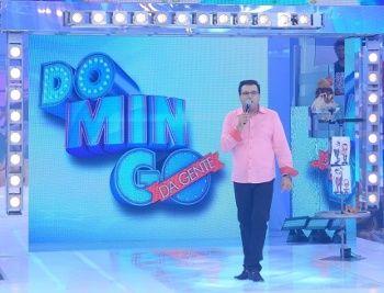 Geraldo Luís durante o Domingo Show (Reprodução)