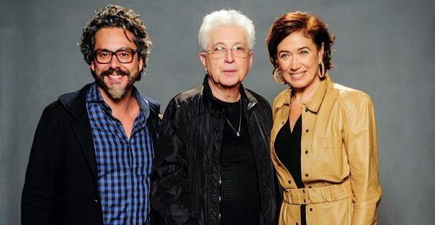 Alexandre Nero, Aguinaldo Silva e Lília Cabral na coletiva de Império. Foto: Divulgação/TV Globo