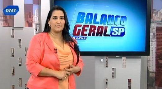 Fabíola Gadelha no Balanço Geral Manhã. Foto: Reprodução/TV Record