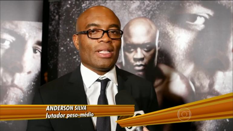 Anderson Silva em entrevista ao Globo Esporte (Foto: Reprodução/TV Globo)