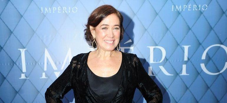 Lília Cabral na coletiva da novela, em junho do ano passado. Foto: Divulgação/TV Globo