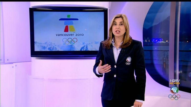 Mylena Ciribelli durante os Jogos de Vancouver (Foto: Reprodução/TV Record)
