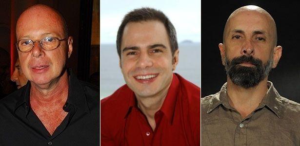 Gilberto Braga, Ricardo Linhares e João Ximenes Braga. Foto: Divulgação/Montagem