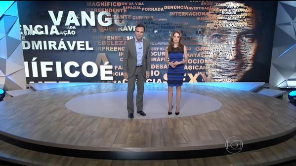 Poliana Abritta utiliza vestido que causou polêmica (Foto: Reprodução/TV Globo)