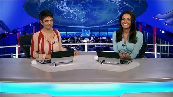 Sandra Annenberg e Patrícia Poeta no JN (Foto: Reprodução/TV Globo)