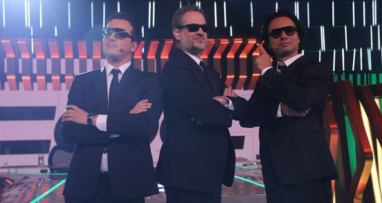 O trio de apresentadores do novo CQC (Foto: Rodrigo Belentani/Band)