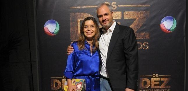 Vivian de Oliveira e o diretor Alexandre Avancini. Foto: Divulgação