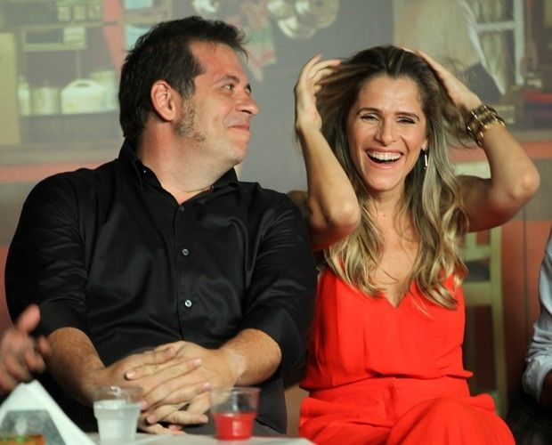 Leandro Hassum e Ingrid Guimarães nos batidores (Foto: Fabiano Battaglin/GShow)