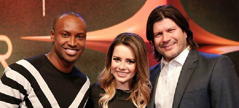 Thiaguinho, Sandy e Paulo Ricardo formam o novo trio de jurados (Foto: Fábio Rocha Magalhães/GShow)