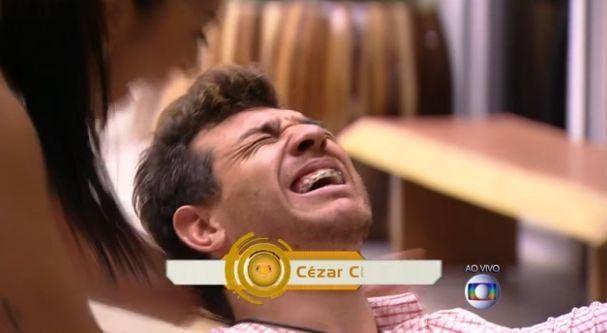 Cézar comemora após ter vencido BBB 15 (Foto: Reprodução/TV Globo)
