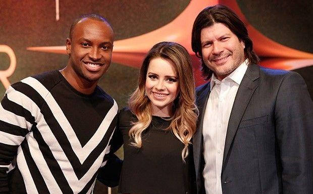 Thiaguinho, Sandy e Paulo Ricardo formam o trio de jurados (Foto: Fábio Rocha Magalhães/GShow)